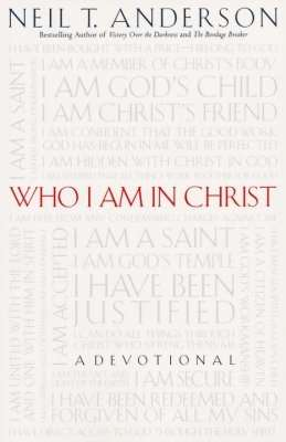 White book cover with red text stating Who Am I In Christ?