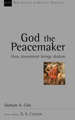 A gray book cover with picture of a flying Angel stating God the Peacemaker.