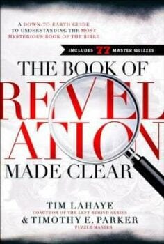 White book cover stating in red and black letters The Book of Revelations Made Clear.