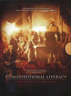 George Washington and Forefathers sitting in a Congressional Room writing Constitution.