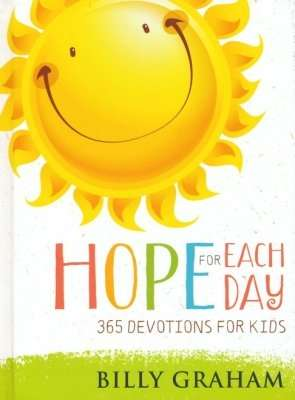 Round sun with smiling face stating Hope for Each Day.