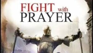 Soldier in dressed in the Armor of God ready to Fight with Prayer.