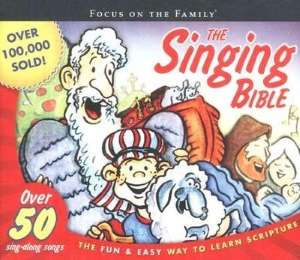 Dvd cover with Biblical cartoon characters signifying The Singing Bible.
