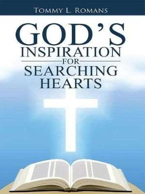 Picture with black letters stating God's Inspiration and a white Cross and Bible beautifully displayed on half blue and half white background.